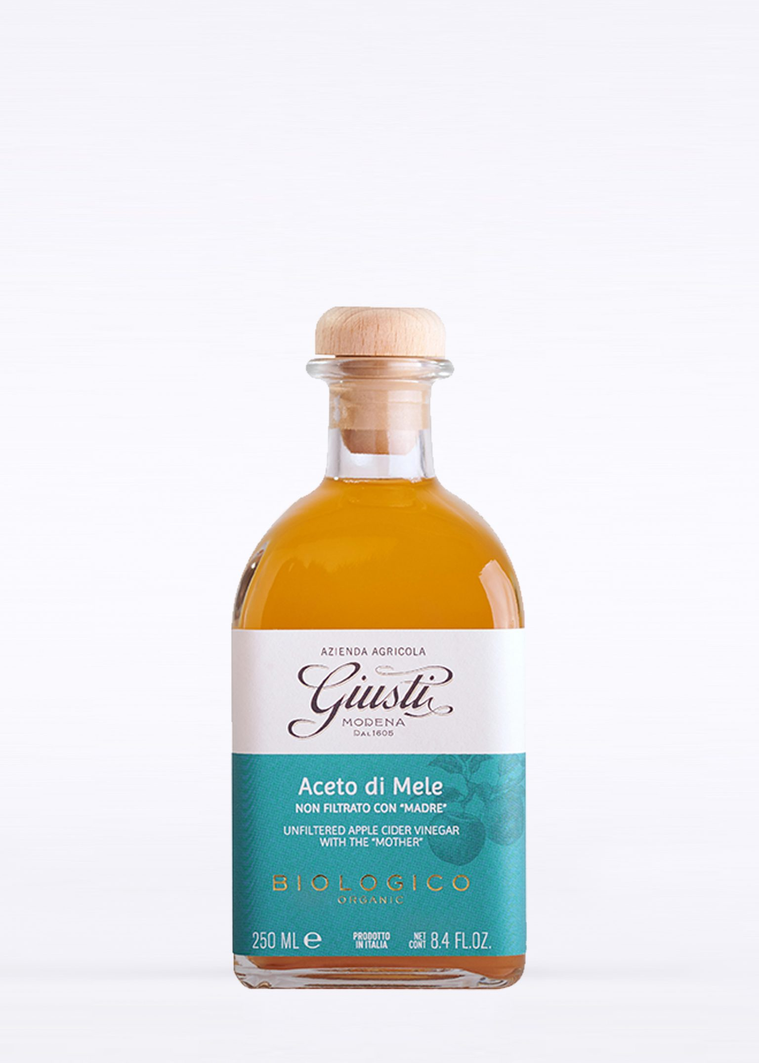 """Organic Unfiltered Apple Cider Vinegar with The """"Mother"""" 250ml"""