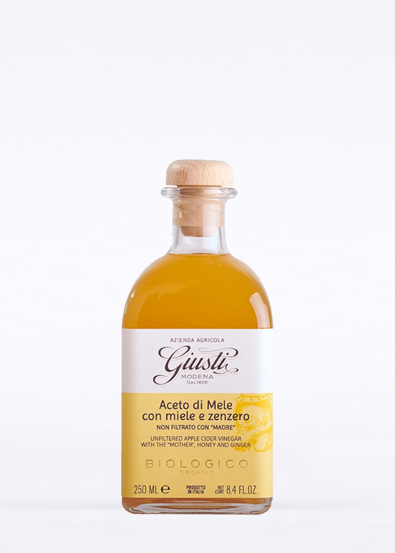 "Organic Unfiltered Apple Cider Vinegar with the ""Mother"", Honey and Ginger 250ml"