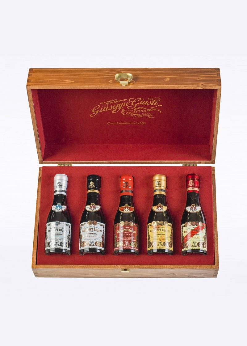 """Complete Collection"" Case  – 5 Champagnottine 100ml - Acetaia Giusti"